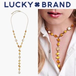 LUCKY BRAND SET STONE Y NECKLACE